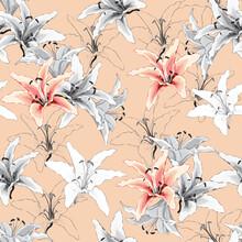 Seamless Pattern Vintage Lilly...
