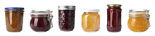 Set Of Jars With Delicious Jam...