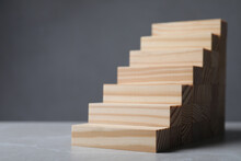 Steps Made With Wooden Blocks ...