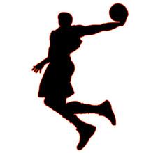 High Jumping Basketball Player...