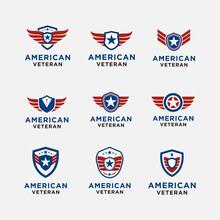 Simple Emblem American Veteran...