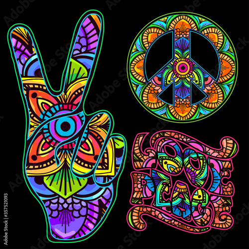 Fotografía retro hippie symbol