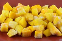 Closeup Of Frozen Mango Fruit ...