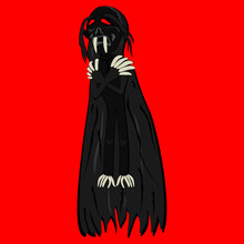 Jenglot Vector Illustration. Indonesian Traditional Black Magic. Jenglot Character. Indonesian Mysterious Living Doll. Blood Eater.