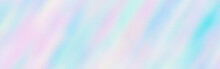 Abstract Holographic Texture Rainbow Banner Holo Lines Blank Background