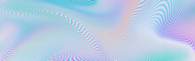 Abstract Holographic Texture Rainbow Glitch Banner Holo Blank Background