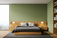 Green Master Bedroom Interior ...