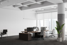 Modern Office Corner With Lounge Area