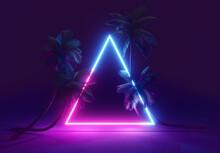 Summer Neon Light Background