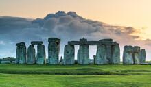 Stonehenge At Sunset In UK- Wales