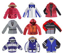 Set Of Children's Jackets Isol...