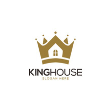 Crown And King House Real Estate Logo Design