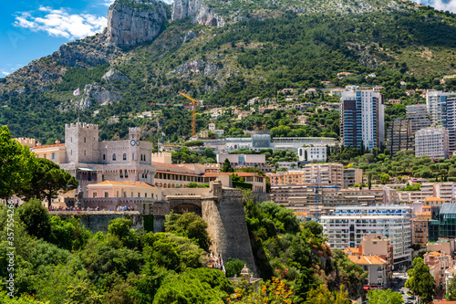 The Palace of the Prince of Monaco, in Monaco-Ville