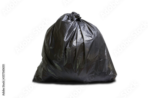 Fototapety, obrazy: Garbage bags isolated on white background. Garbage bags isolated with clipping path.