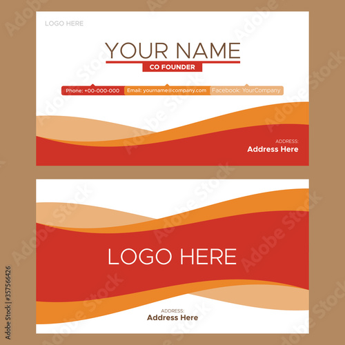 Photo vector business card