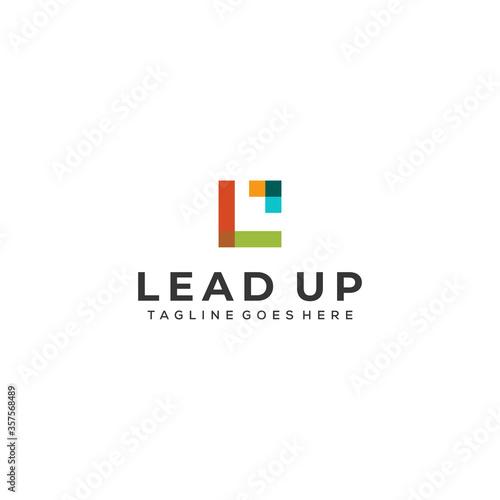 Cuadros en Lienzo Creative modern lead business logo icon vector template