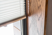 Wooden Slopes On The Window. W...