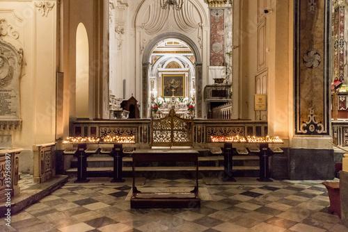 Interior of the Church of Sant andrea, Amalfi, italy. Wallpaper Mural