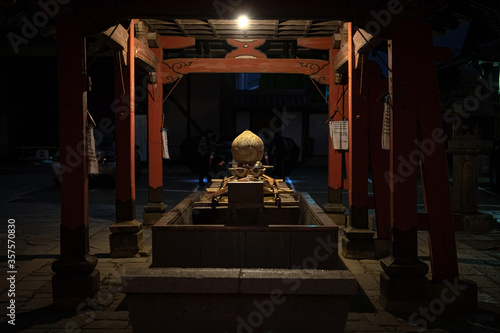 Photo 京都 東寺 夜の手水舎