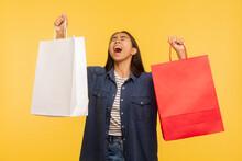 Portrait Of Overjoyed Shopper ...