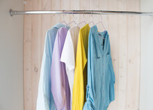 Clothes Of Pastel Shades On Ha...
