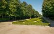 park zieleń drzewa liście niebo hiszpania