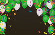 Vector Illustration of Green Balloons