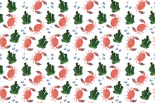 Seamless Watercolor Pattern Of...