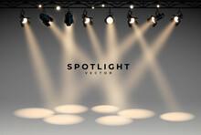 Spotlights Empty Scene. Illumi...