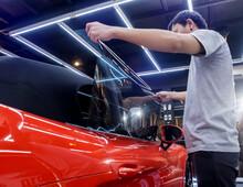 Applying Tinting Foil On A Car...