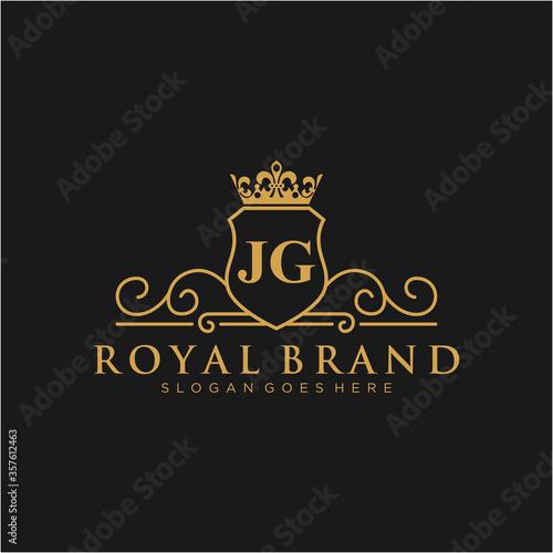 Foto JG Letter Initial Luxurious Brand Logo Template.