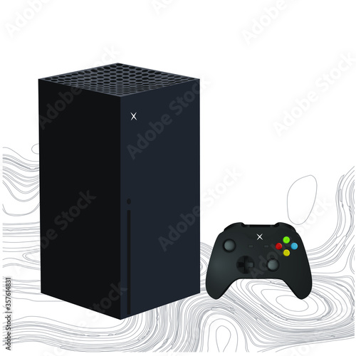 Photo Microsoft Xbox Series X. 4k 120fps vector.  2020 March
