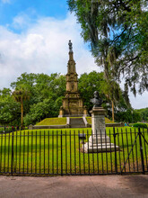 Forsythe Park Is A Large And Beautiful Green Space In The Stunning City Of Savannah In Georgia USA With Statues And Fountains