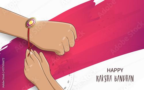 фотография Vector Illustration of Raksha Bandhan