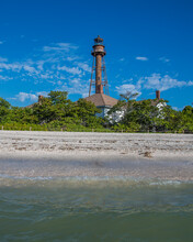 Sanibel Island Lighthouse And Beach In Florida