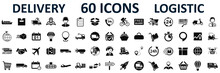 Set Logistics Icons, Delivery,...