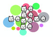 cute animals vector design. for logo and print