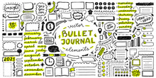 Vector Set Of Elements For Bullet Journal
