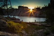 Sunset At Sylvan Lake (Silhoue...