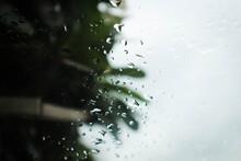Rain Drops On The Car Glass, R...
