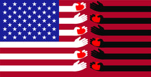 Flag Of The United States Blac...