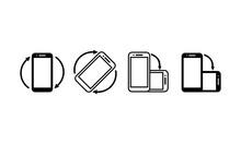 Smartphone Rotation Icons. Pho...