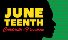 Juneteenth Freedom Day. Africa...
