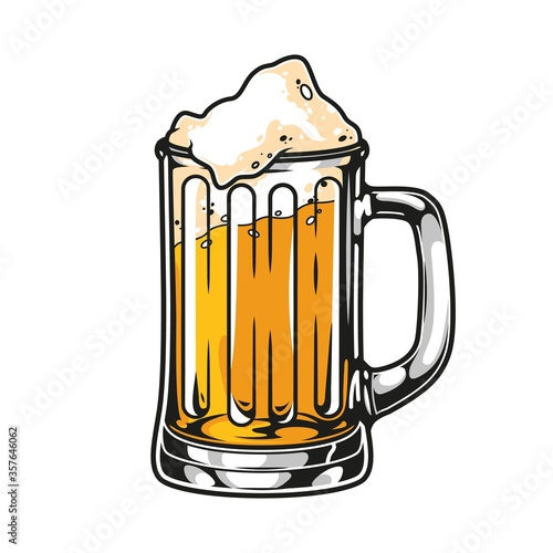 Cup of fresh lager beer concept Wallpaper Mural