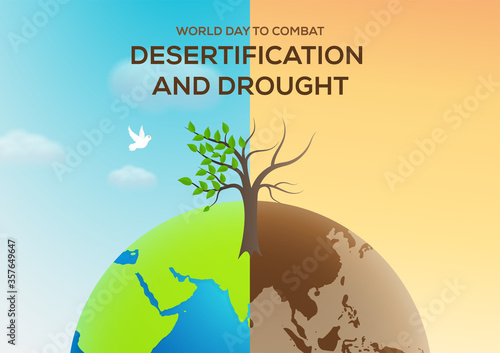 Fotografija world day to combat desertification and drought vector