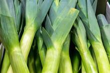 Raw Green Organic Leeks Ready ...