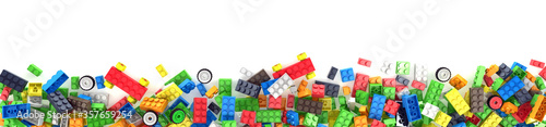 Photo Plastic building blocks