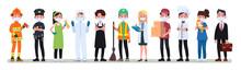 Various Occupations People Wea...