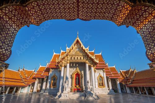 Photo Wat Benchamabophit, Dusit Wanaram, Ratchaworawihan, Popular tourist attractions, Bangkok, Thailand