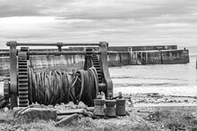 Old Boat Winch At The Harbour